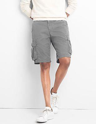 GAP Men Grey Cargo Shorts