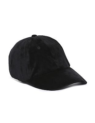 Aeropostale Solid Velvet Baseball Cap