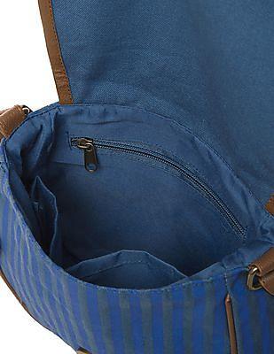Bronz Printed Canvas Sling Bag