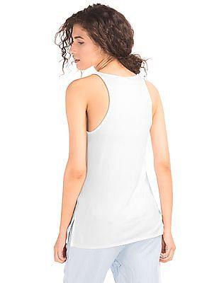GAP Women White Softspun Knit Racerback Tank Tunic
