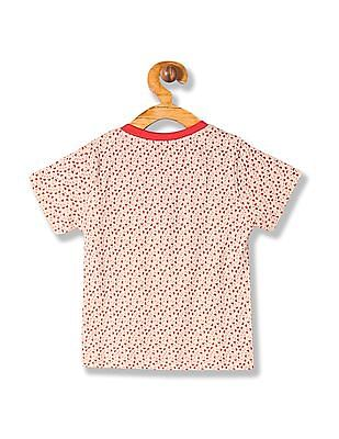 Donuts Boys Printed V-Neck T-Shirt