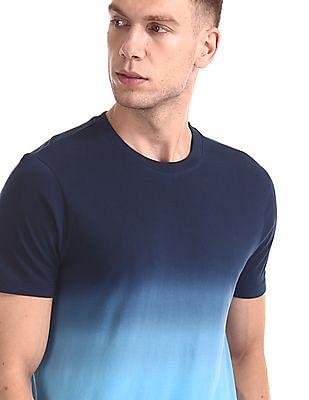 Aeropostale Crew Neck Dip Dye T-Shirt