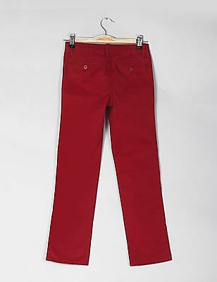 GAP Boys Red Regular Fit Lived In Chino Pants