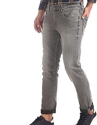 U.S. Polo Assn. Denim Co. Grey Brandon Slim Fit Stone Wash Jeans