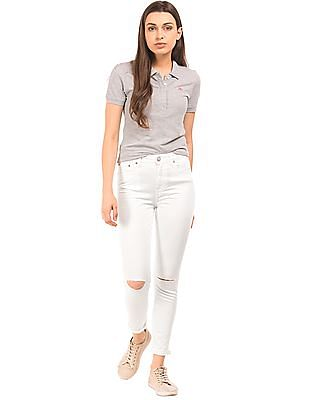 Aeropostale High Rise Distressed Trousers