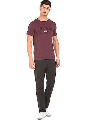 Gant Round Neck Printed Front T-Shirt