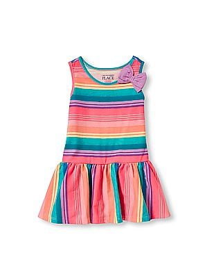 The Children's Place Toddler Girl Sleeveless 3D Bow Printed Dress