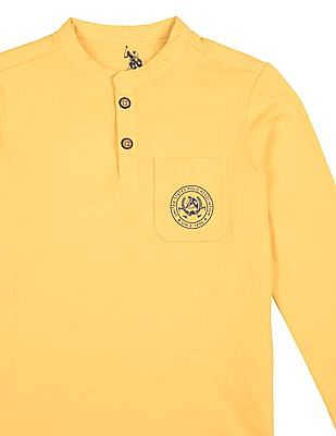 U.S. Polo Assn. Kids Boys Long Sleeve Henley T-Shirt