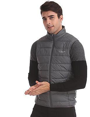 U.S. Polo Assn. Grey Solid Gilet Jacket
