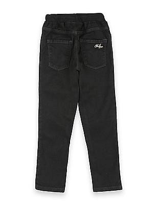 FM Boys Boys Elasticized Waist Jogger Fit Jeans