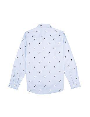 FM Boys Boys Pelican Print Slim Fit Shirt