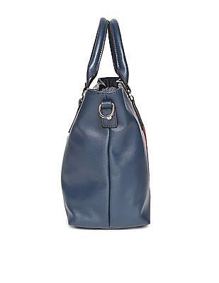 U.S. Polo Assn. Women Detachable Strap Contrast Panel Tote Bag