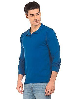Flying Machine Long Sleeve Slim Fit Sweater
