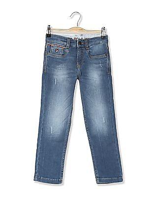 U.S. Polo Assn. Kids Boys Skinny Fit Distressed Jeans