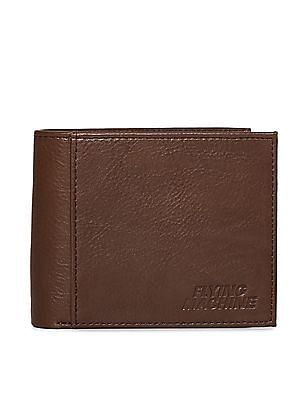 Flying Machine Brown Textured Leather Wallet