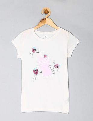 GAP Girls Metallic Graphic T-Shirt