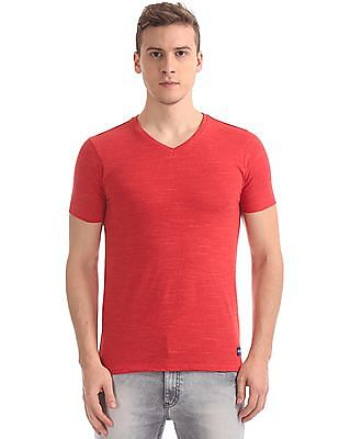 Flying Machine Slim Fit V-Neck T-Shirt