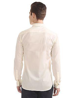 USPA Tailored Solid Regular Fit Shirt