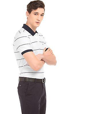 Arrow Sports Striped Polo Shirt