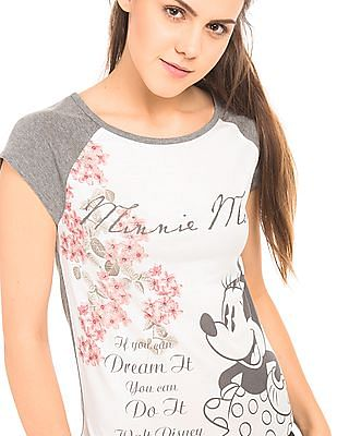 Flying Machine Women Mickey Mouse Printed Top