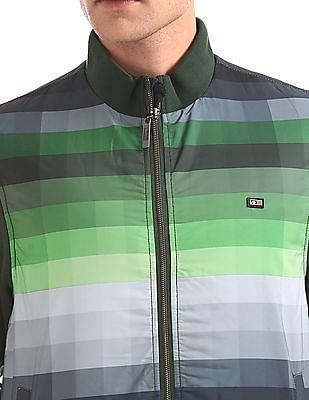 Arrow Sports Zip Up Striped Jacket