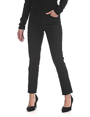 Arrow Woman Slim Fit Flat Front Trousers