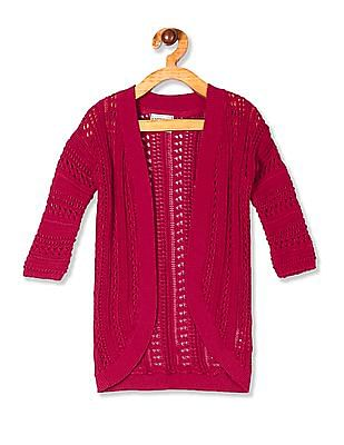 Cherokee Red Girls Open Front Knit Shrug