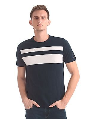 92ea02e19c Buy Men Short Sleeve Striped Pieced Pique Crew online at NNNOW.com