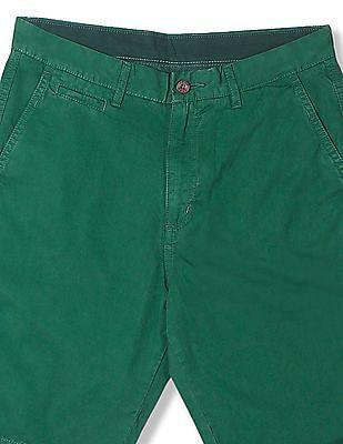 Izod Flat Front Solid Chino Shorts