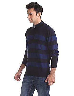Izod Half Zip Striped Sweater