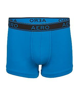 Aeropostale Solid Cotton Elastane Trunks