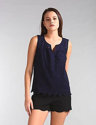 GAP Sleeveless Eyelet Tank