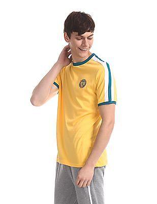 Colt Yellow Contrast Crew Neck T-Shirt