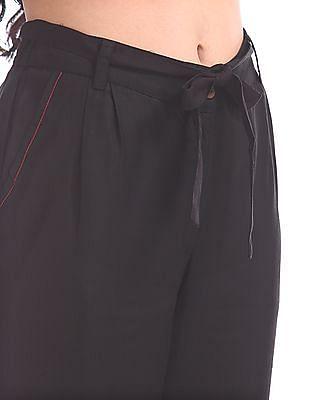 Bronz Single Pleat Belted Pants