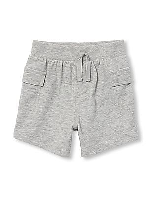 The Children's Place Baby Boys Solid Cargo Knit Pull-On Shorts
