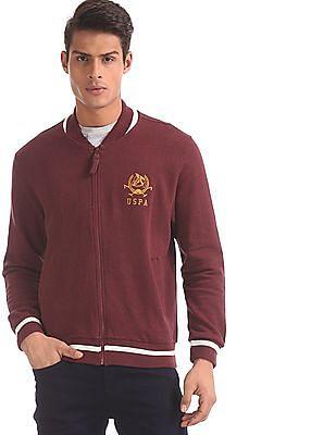 U.S. Polo Assn. Red Welt Pocket Zip Up Sweatshirt