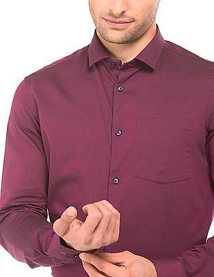 Arrow Newyork Semi Cutaway Slim Fit Shirt