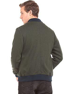 U.S. Polo Assn. Textured Regular Fit Bomber Jacket
