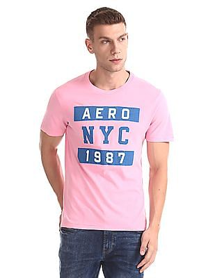 7a4716309bb Aeropostale Crew Neck Appliqued T-Shirt. SHOP NNNOW