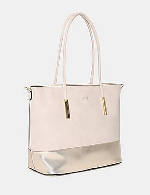 Stride Metallic Panel Tote Bag