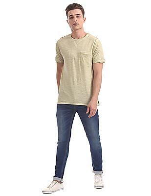 Cherokee Regular Fit Slubbed T-Shirt