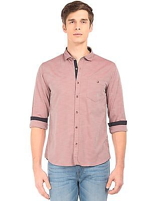 Ruggers Regular Fit Cutaway Collar Chambray Shirt