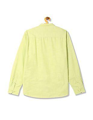 Izod Slim Fit Mandarin Collar Shirt