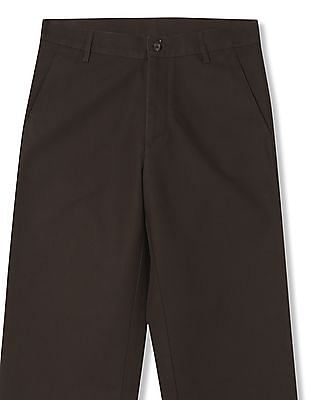Arrow Regular Fit Mid Rise Trousers