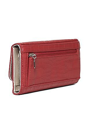 GUESS Textured Three Fold Wallet