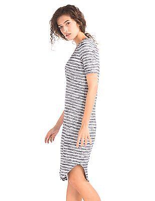 GAP Softspun Knit V-Neck Midi Dress