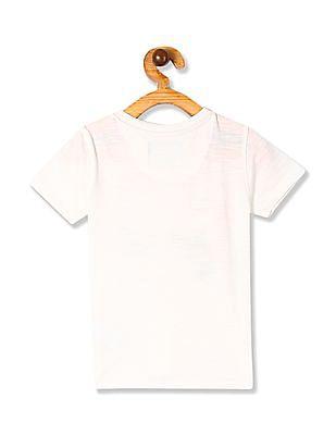 Cherokee White Boys Front Print Crew Neck T-Shirt