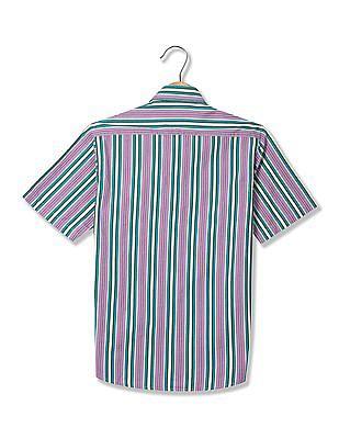 Arrow Sports Short Sleeve Checked Shirt