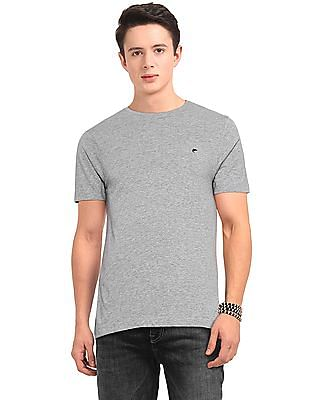 Ruggers Grey Slim Fit Heathered T-Shirt