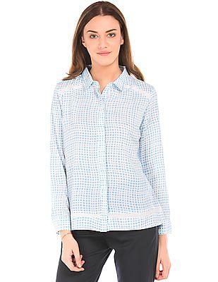 Arrow Woman Printed Long Sleeve Shirt